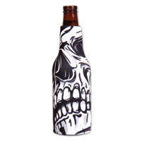 Hot Leathers Spade Skull Bottle Koozie