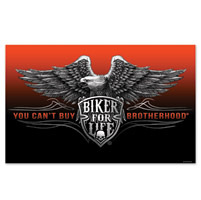 Hot Leathers Biker Brotherhood 3'x5' Flag