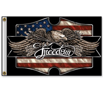 Hot Leathers Freedom Eagle 3'x5' Flag