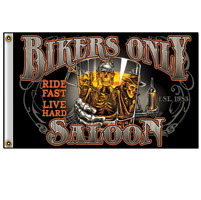 Hot Leathers New Bikers Saloon 3'x5' Flag