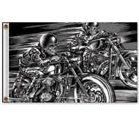 Hot Leathers Skull Racers 3'x5' Flag