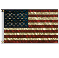 Hot Leathers Distressed American 3'x5' Flag