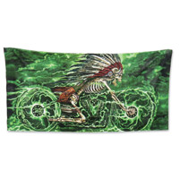 Hot Leathers Skeleton Cycle Multi-Colored Towel