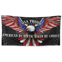 Hot Leathers Patriot Eagle Multi-Colored Towel