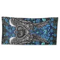 Hot Leathers Angel Roses Multi-Colored Towel