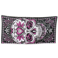 Hot Leathers Sugar Paisley Multi-Colored Towel