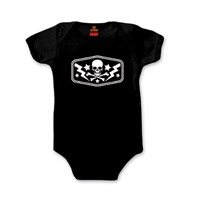 Hot Leathers Bones and Bolts Black Onesie