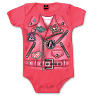 Hot Leathers Girl's Leather Jacket Hot Pink Onesie