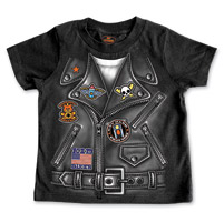 Hot Leathers Boy's Leather Jacket Black T-Shirt