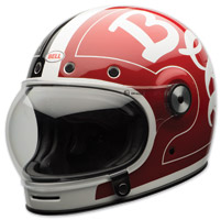 Bell LE Bullitt Skratch Black/Red Full Face Helmet