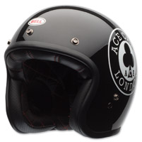 Bell LE Custom 500 Ace Cafe Black Open Face Helmet