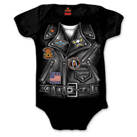 Hot Leathers Boy's Leather Jacket Black Onesie