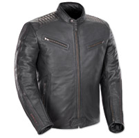 Joe Rocket Men's Vintage Rocket Black/Black Leather Jacket