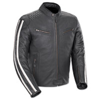 Joe Rocket Men's Vintage Rocket Black/White Leather Jacket