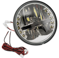 BikeMaster LED 5-3/4″ Headlight with Integrated Turn Signals