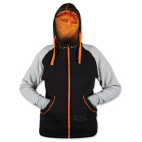 Speed and Strength Women's American Beauty Black/Grey/Orange Armored Zip Up Hoodie