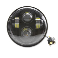 Cyron 5-3/4″ LED Black Headlight