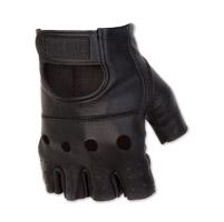 Black Brand Men's Bare Knuckle Shorty Black Leather Gloves
