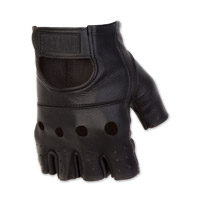 Black Brand Men's Bare Knuckle Shorty Black Leather Gloves