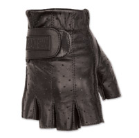 Black Brand Men's Classic Shorty Black Leather Gloves