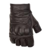 Black Brand Men's Brawler Shorty Black Leather Gloves
