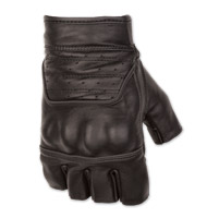 Black Brand Men's Brawler Shorty Black Leather Gloves