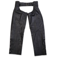 Black Brand Men's Torque Black Leather Chaps