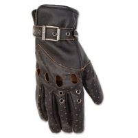 Black Brand Women's Vintage Venom Black Leather Gloves