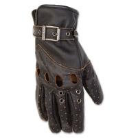 Black Brand Women's Vintage Venom Black Leather Gloves