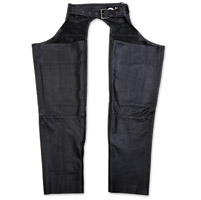 Black Brand Men's Degree Black Leather Chaps