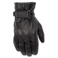 Black Brand Men's Freeway Black Leather Gloves