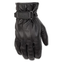 Black Brand Men's Freeway Black Leather Gloves