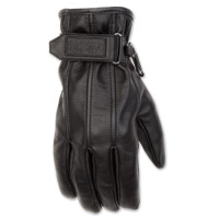 Black Brand Women's Back Road Black Leather Gloves