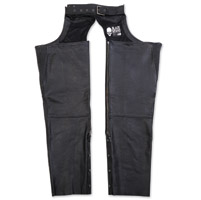 Black Brand Men's Moto Black Leather Chaps