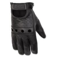 Black Brand Men's Bare Knuckle Black Leather Gloves