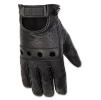 Black Brand Men's Bare Knuckle Black Leather Gloves