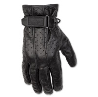 Black Brand Men's Filter Black Leather Gloves