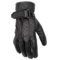 Black Brand Women's Breathe Black Leather Gloves