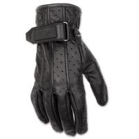 Black Brand Women's Breathe Black Leather Gloves