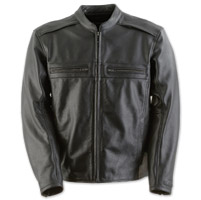 Black Brand Men's Fahrenheit Black Leather Jacket