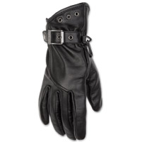 Black Brand Women's Crystal Black Leather Gloves