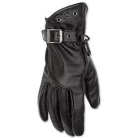 Black Brand Women's Crystal Black Leather Gloves