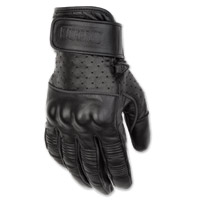 Black Brand Men's Protector Black Leather Gloves