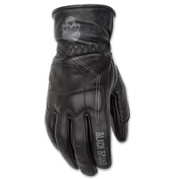Black Brand Men's Pinstripe Black Deer Skin Gloves