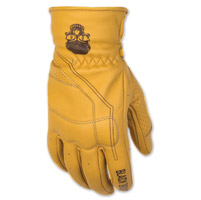 Black Brand Men's Pinstripe Tan Deer Skin Gloves