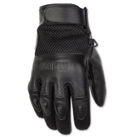 Black Brand Men's Challenge Black Mesh/Leather Gloves
