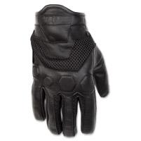 Black Brand Men's Tech Rider Black Mesh/Leather Gloves