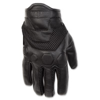 Black Brand Men's Tech Rider Black Mesh/Leather Gloves