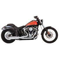 Vance & Hines Hi Output 2 Into 1 Exhaust Chrome Short