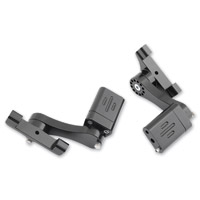 Rivco Black Adjustable Passenger Floorboard Mounts